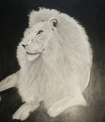 Lion Artwork by Vijay Deodhar